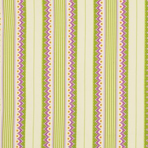 Heather Bailey Lottie Da Fabric - Carousel Stripe - Orchid