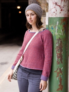Berroco Vintage DK Jidai Striped Pullover Kit - Women's Pullovers