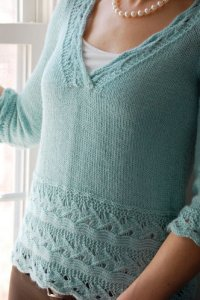 Knit One, Crochet Too Patterns - English Manor Top Pattern