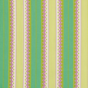 Heather Bailey Lottie Da Fabric - Carousel Stripe - Turquoise