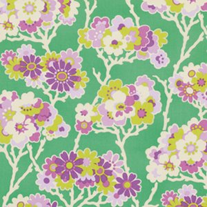 Heather Bailey Lottie Da Fabric - Sprig - Turquoise