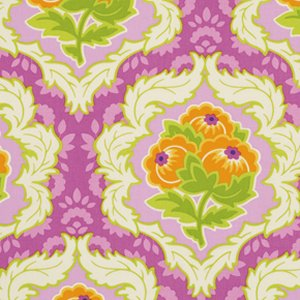 Heather Bailey Lottie Da Fabric - Dauphine - Orchid