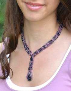 Javori Designs Soho Lariat Necklace - Black Amethyst