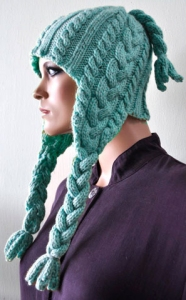 Crystal Palace Cuddles Braided Earflap Hat Kit - Hats and Gloves