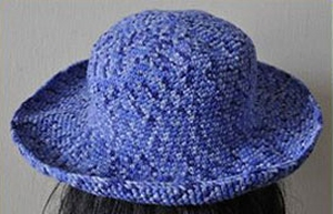 Crystal Palace Cuddles Print Brimmed Crocheted Hat Kit - Crochet for Adults