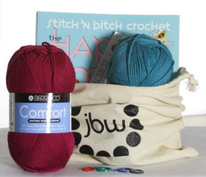 Holiday Gift Kit- Jimmy Beans Wool Learn to Crochet Kit - Gift, Needle and Pattern Sets