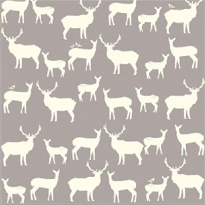Birch Fabrics Elk Grove Knits Fabric - Elk Family Shroom