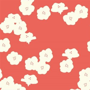 Birch Fabrics Elk Grove Knits Fabric - Poppies Coral