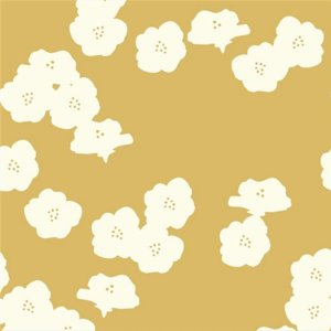 Birch Fabrics Elk Grove Knits Fabric - Poppies Sun