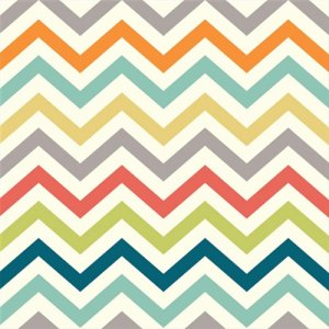Birch Fabrics Just For Fun Knits Fabric - Skinny Chevron - Multi (Ships July)