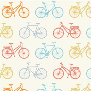 Birch Fabrics Just For Fun Knits Fabric - Bike It - Multi