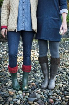 Cascade 220 Heathers Churchmouse Cozy Boot Cuffs Kit - Socks