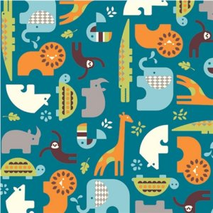 Birch Fabrics Safari Soiree Fabric - Soiree Teal