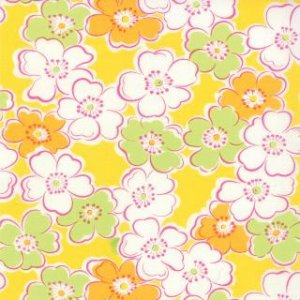 Me and My Sister Giggles Fabric - Giggles All Over - Bang Yellow (22202 16)