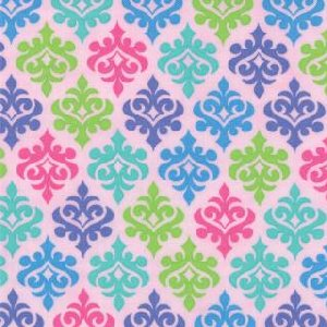 Me and My Sister Giggles Fabric - Wallpaper - Giggle Pink (22205 11)