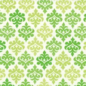 Me and My Sister Giggles Fabric - Wallpaper - Grenade Green (22205 13)