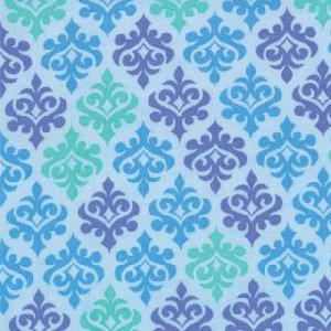 Me and My Sister Giggles Fabric - Wallpaper - Explosion Blue (22205 14)