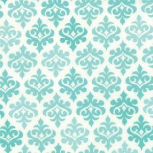 Me and My Sister Giggles Fabric - Wallpaper - Firecracker Turquoise (22205 15)