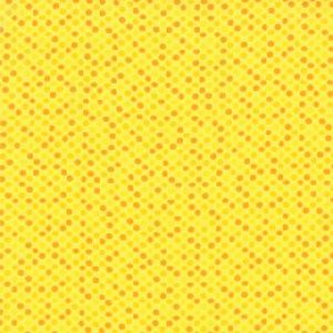Me and My Sister Giggles Fabric - Giggly Dots - Bang Yellow (22206 16)