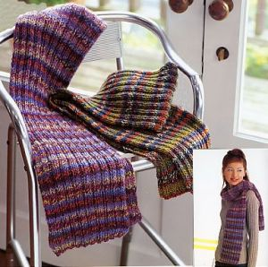 CPY Taos Ribbed Scarf Kit - Scarf and Shawls