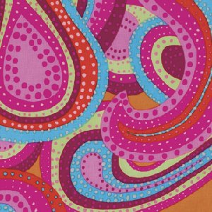 Brandon Mably Dancing Paisley Fabric - Watermelon