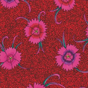 Kaffe Fassett Dianthus Fabric - Red