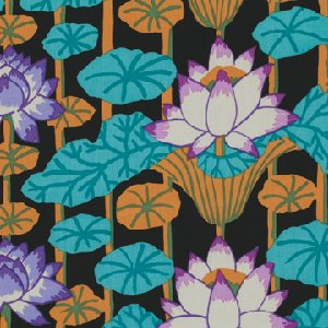 Kaffe Fassett Lotus Stripe Fabric - Black