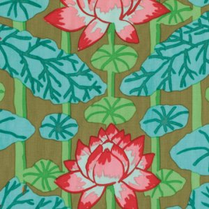 Kaffe Fassett Lotus Stripe Fabric - Green