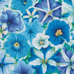 Philip Jacobs Petunias Fabric - Delft