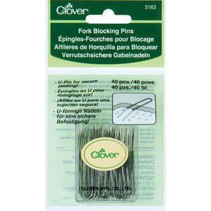 Clover Fork Blocking Pins - 40 ct