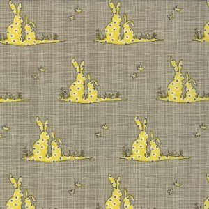 Kate & Birdie Bluebird Park Fabric - Bunnies - Lamp Post (13105 16)