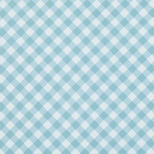 Tanya Whelan Sunshine Roses Fabric - Gingham - Blue