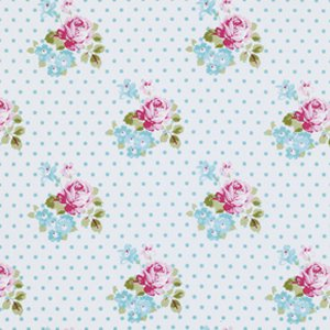 Tanya Whelan Sunshine Roses Fabric - Hanky Rose - Blue