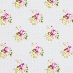 Tanya Whelan Sunshine Roses Fabric - Hanky Rose - Yellow