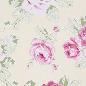 Tanya Whelan Sunshine Roses Fabric - Full Bloom Roses - Ivory