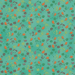 Valori Wells Bridgette Lane Fabric - Posies - Pumpkin