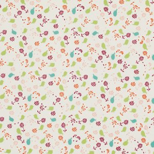 Valori Wells Bridgette Lane Flannel Fabric - Posies - Cherry
