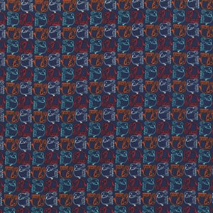Valori Wells Bridgette Lane Flannel Fabric - Ellie - Blueberry