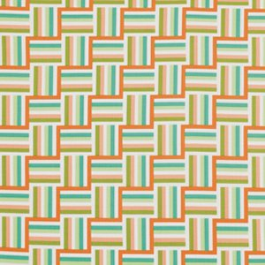 Jenean Morrison Wishing Well Fabric - Ladder Stripe - Orange