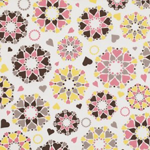 Jenean Morrison Wishing Well Fabric - Secret Hearts - Pink