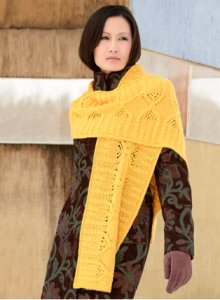 Blue Sky Fibers Scarf, Shawl, and Wrap Patterns - Czarina Wrap Pattern