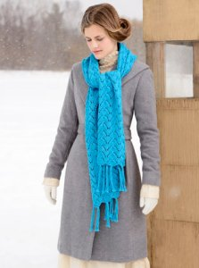 Blue Sky Fibers Scarf, Shawl, and Wrap Patterns - Baltic Wrap Pattern