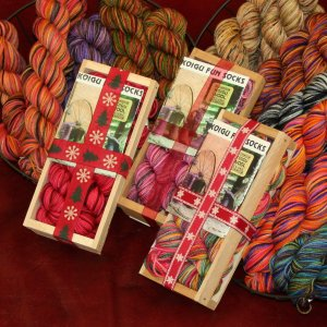 Koigu Classic Crate Fun Sock Kit - Candy Cane Lane