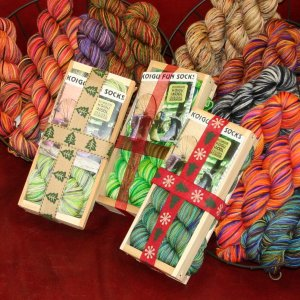 Koigu Classic Crate Fun Sock Kit - Christmas Tree Lot