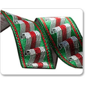 Renaissance Ribbons Laura Foster Nicholson Ribbon Fabric - Sweets - Red & Green - 7/8""