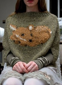 Tiny Owl Knits Patterns - Fawn Poncho Pattern