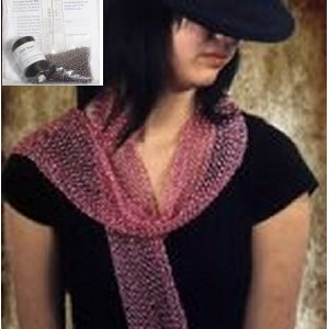 Swallow Hill Creations April Beaded Scarf - Black/Brown