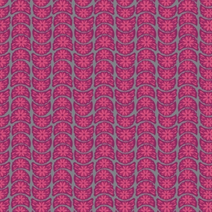 Anna Maria Horner True Colors Fabric - Crescent Bloom - Fuchsia