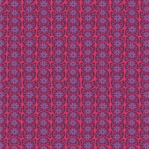 Anna Maria Horner True Colors Fabric - Crescent Bloom - Ruby