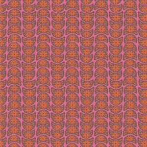 Anna Maria Horner True Colors Fabric - Crescent Bloom - Tangerine